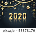 Golden Celebration Background for Happy New Year 2020 58878179