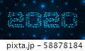 Text 2020 Made in Circuit Texture, Banner for Happy New Year 58878184