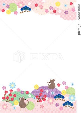 子年-年賀状テンプレート-イ3テク 58884068