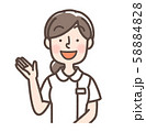 白衣女性 シンプルナース 案内 58884828