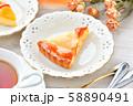 紅茶とフルーツタルトのティータイム(お茶)のイメージ。 58890491