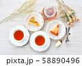 紅茶とフルーツタルトのティータイム(お茶)のイメージ。 58890496