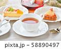 紅茶とフルーツタルトのティータイム(お茶)のイメージ。 58890497