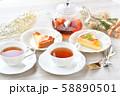 紅茶とフルーツタルトのティータイム(お茶)のイメージ。 58890501