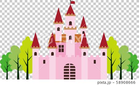 西方城堡圖 58908666