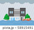 浸水のイラスト 58915491