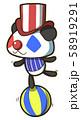 ピエロをしているパンダのキャラクター 58919291