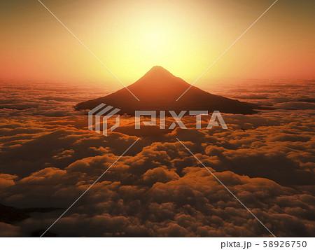 富士山の日の出 58926750