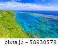 伊良部島_サンゴ礁の絶景 58930579