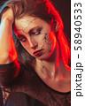 female halloween makeup 58940533