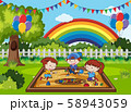Doodle Kids Playing at Sand Playground 58943059