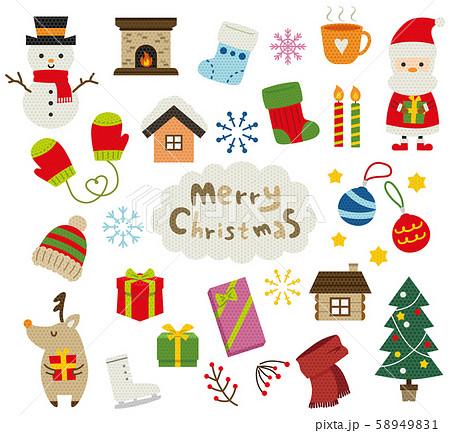 冬 アイコン セット クリスマス 58949831