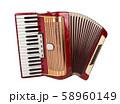 Retro accordion isolated 58960149