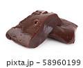 Liver fillet on white 58960199