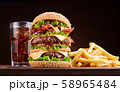 Big double cheeseburger 58965484