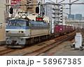 梅田貨物線を走るEF66133コンテナ貨物列車 58967385