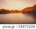 【横浜】三渓園の夕景 58973208