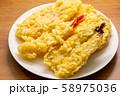 天ぷら盛り合わせ。いわし、えび、レンコン等。 58975036