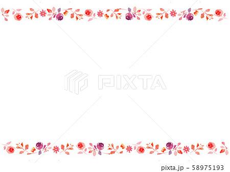 花 背景 ライン素材  58975193
