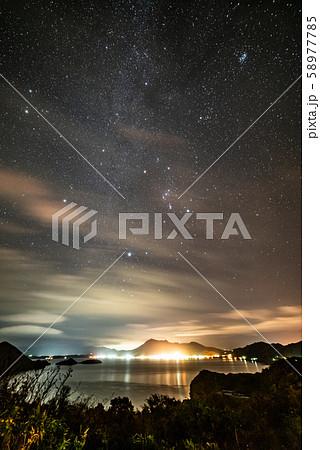 洞爺湖と天の川 58977785