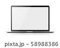 ノートパソコンの画面合成用素材 58988386
