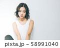 若い女性のヘアスタイルイメージ 58991040