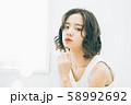 若い女性のヘアスタイルイメージ 58992692