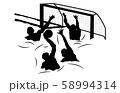 スポーツシルエット水球5 58994314