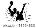 スポーツシルエット水球3 58994333