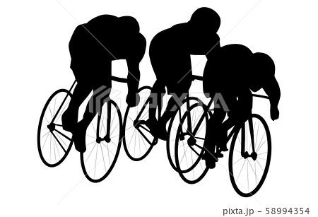 スポーツシルエット自転車4 58994354