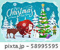 New Year and Christmas greetings, winter holidays 58995595