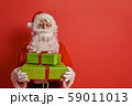Santa Claus on color background. 59011013