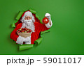 Santa Claus on color background. 59011017