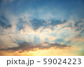 Beautiful sky, sunset and clouds 59024223