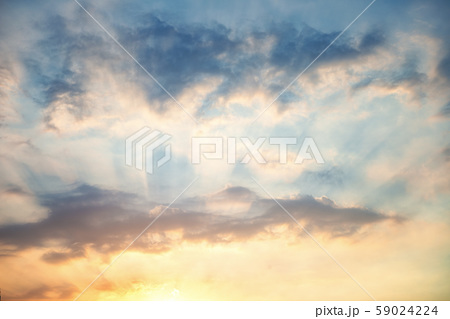 Beautiful sky, sunset and clouds 59024224