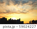 Sunset and buildings in Taiwan 59024227