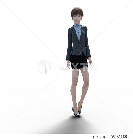 ユニフォーム姿の女性 perming3DCGイラスト素材 59024805