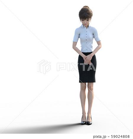 ユニフォーム姿の女性 perming3DCGイラスト素材 59024808