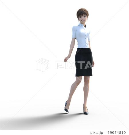 ユニフォーム姿の女性 perming3DCGイラスト素材 59024810