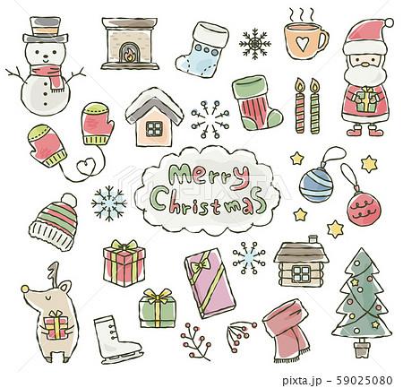 冬 アイコン セット クリスマス 59025080