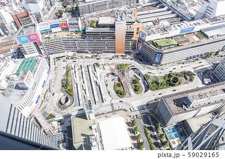 新宿駅 上から 新宿 ビル群 59029165