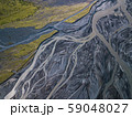 Aerial view of glacier river in Iceland 59048027