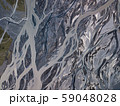 Aerial view of glacier river in Iceland 59048028