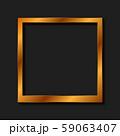 Vintage realistic golden blank instant photo frame 59063407