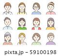 女性アイコン_color 59100198