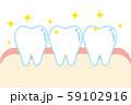 健康な歯と歯ぐきのイラスト character illustration of healthy to 59102916