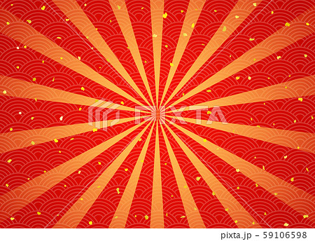 放射状の伝統柄背景 金粉 59106598