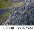 Aerial view of glacier river in Iceland 59107528