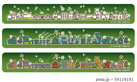 クリスマス街並み バリエーション(緑) 59119191