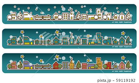 クリスマス街並み バリエーション(夜) 59119192
